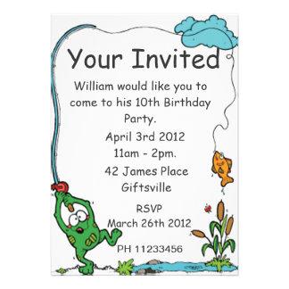 Frog Fishing Party Invitation