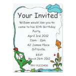 Frog Fishing Party Invitation