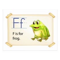 Frog flashcard postcard