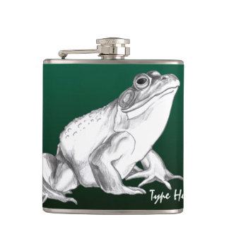 Frog Flask Personalized Bull Frog Art Drink Flask