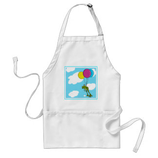 Frog Floating With Balloons Adult Apron