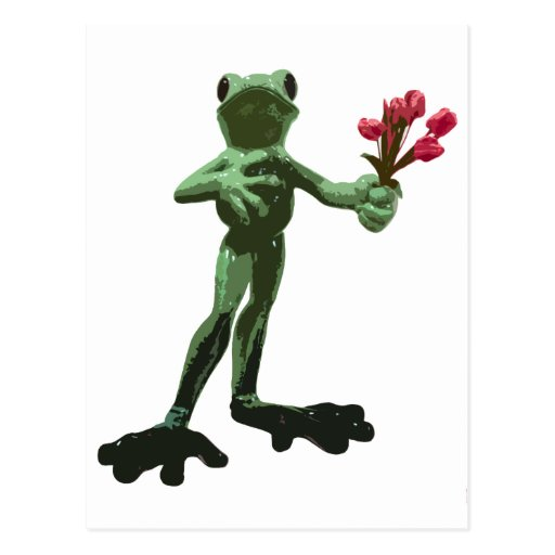 frog & flowers post cards