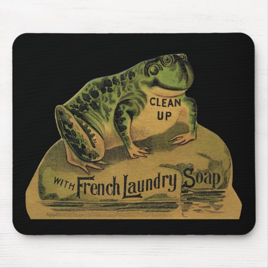Frog French Laundry Soap Mouse Pad