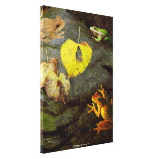 Frog friends Stretched Canvas Print