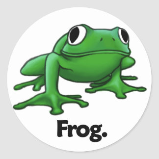 Frog Frog Round Stickers