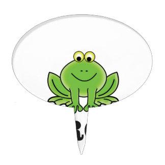 frog frogger cake topper