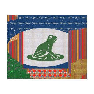 Frog FROGGY pet wild nature animal Stretched Canvas Prints