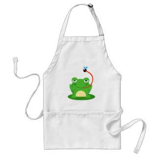 Frog Frogs Amphibian Funny Bug Cartoon Animal Apron
