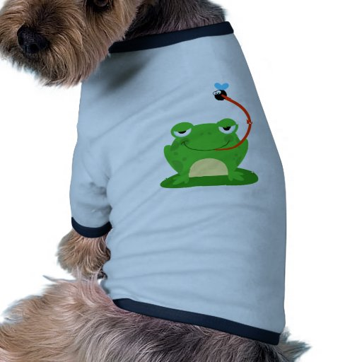 Frog Frogs Amphibian Funny Bug Cartoon Animal Dog Tee Shirt