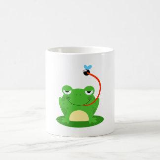 Frog Frogs Amphibian Funny Bug Cartoon Animal Classic White Coffee Mug