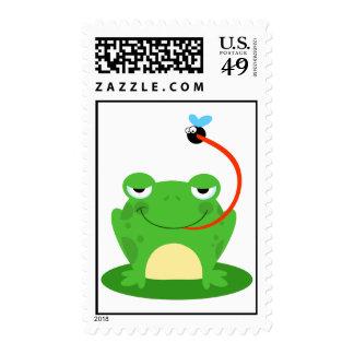 Frog Frogs Amphibian Funny Bug Cartoon Animal Stamps