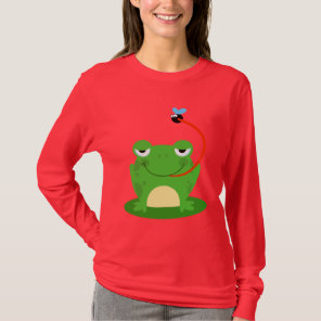 Frog Frogs Amphibian Funny Bug Cartoon Animal T-Shirt