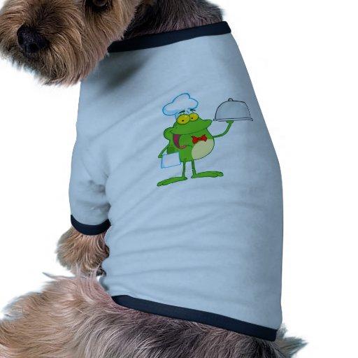 Frog Frogs Amphibian Funny Chef Cartoon Animal Pet Tee Shirt