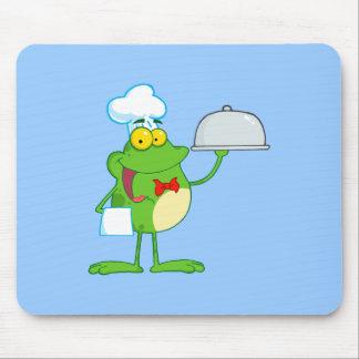 Frog Frogs Amphibian Funny Chef Cartoon Animal Mousepad