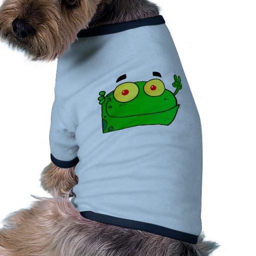 Frog Frogs Amphibian Green Cute Cartoon Animal Doggie Tshirt