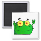 Frog Frogs Amphibian Green Cute Cartoon Animal Magnet