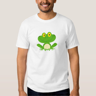 Frog Frogs Amphibian Green Cute Cartoon Animal Shirt