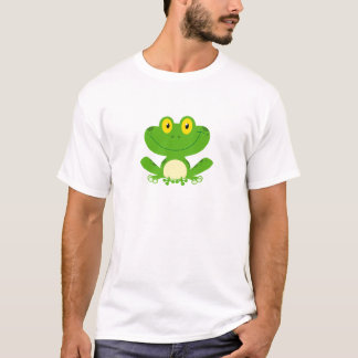 Frog Frogs Amphibian Green Cute Cartoon Animal T-Shirt