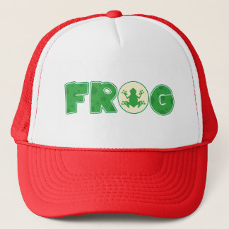Frog Frogs Amphibian Green Cute Cartoon Animal Trucker Hat