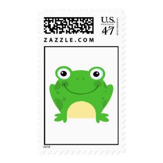Frog Frogs Amphibian Happy Cute Cartoon Animal Stamp