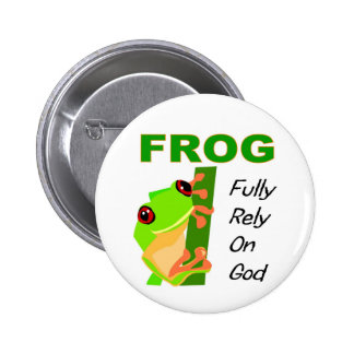 FROG, Fully rely on God 2 Inch Round Button