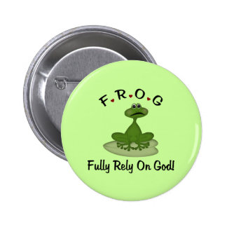 Frog Fully Rely on God Button