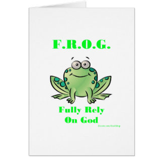 FROG (Fully Rely on God) Card
