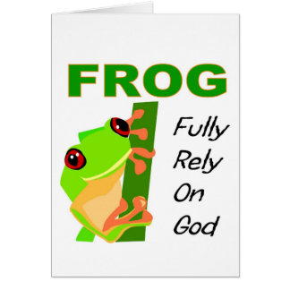 FROG, Fully rely on God Card