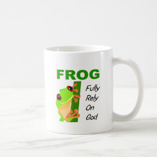 FROG, Fully rely on God Coffee Mug