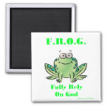 FROG (Fully Rely on God) Fridge Magnets