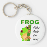 FROG, Fully rely on God Keychains