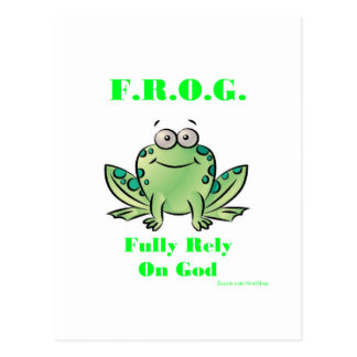FROG (Fully Rely on God) Postcard