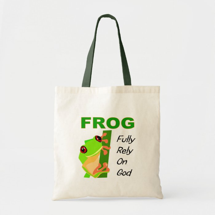 FROG, Fully rely on God Tote Bag