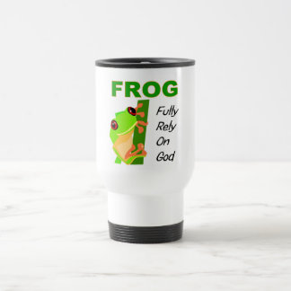 FROG, Fully rely on God Travel Mug
