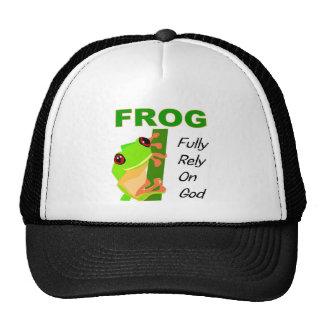 FROG, Fully rely on God Trucker Hat