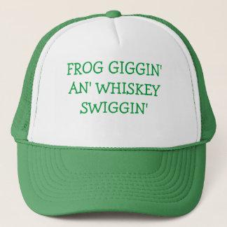 FROG GIGGIN' AN' WHISKEY SWIGGIN' HAT