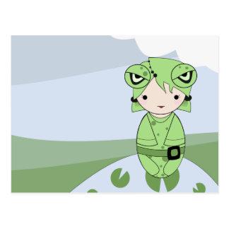 Frog Girl Postcard