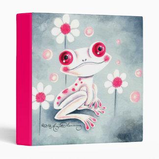 Frog Girly Pink Cute 3 Ring Binders