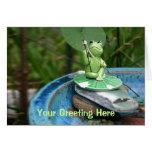 Frog Gone Fishing Greeting Card
