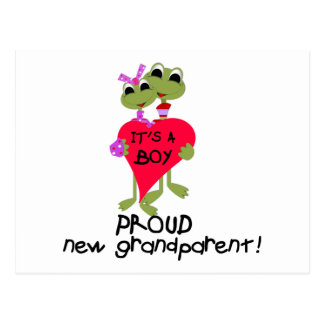Frog Grandparent of Boy Tshirts and Gifts Postcard
