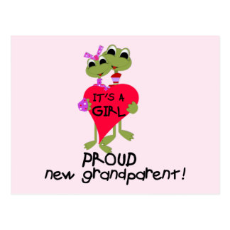 Frog Grandparent of Girl Tshirts and Gifts Postcard