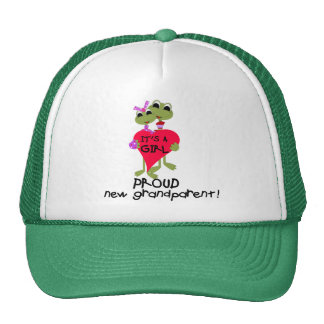 Frog Grandparent of Girl Tshirts and Gifts Trucker Hat