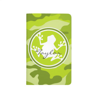 Frog;  green camo, camouflage journal