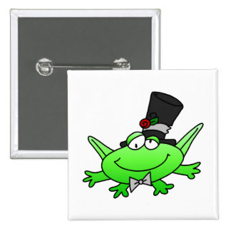 Frog Groom T-shirts and Gifts 2 Inch Square Button