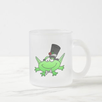 Frog Groom T-shirts and Gifts Frosted Glass Coffee Mug