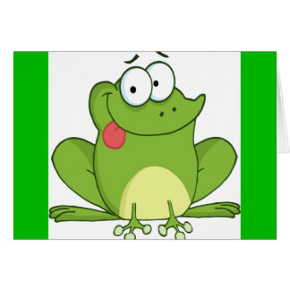 Frog Hanging Its Tongue Out Card