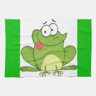 Frog Hanging Its Tongue Out Kitchen Towel