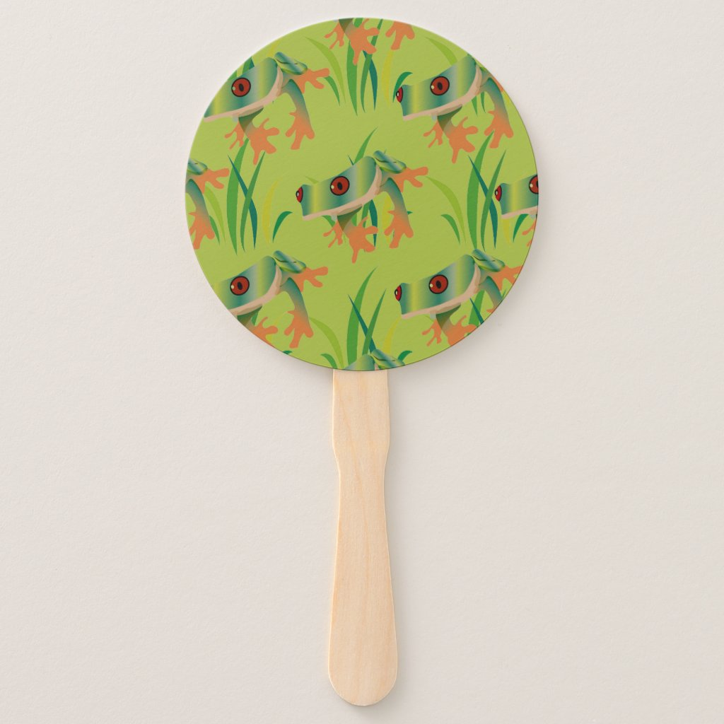 Frog Happy Hand Fan