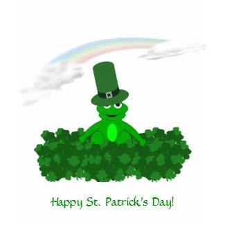 Frog Happy St. Patricks Day Tshirt shirt