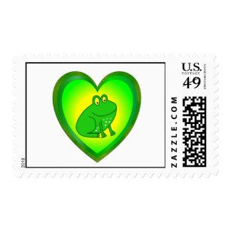 Frog Heart Postage